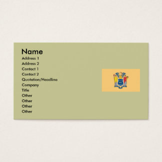 New Jersey Map and State Flag Business Card
