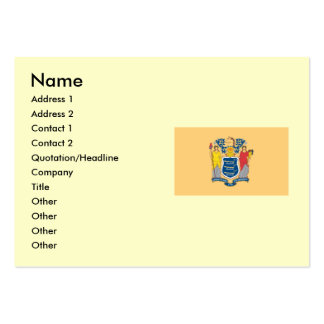 New Jersey Map and State Flag Large Business Cards (Pack Of 100)