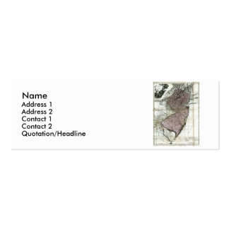 New Jersey Map and State Flag Double-Sided Mini Business Cards (Pack Of 20)