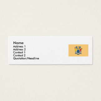 New Jersey Map and State Flag Mini Business Card
