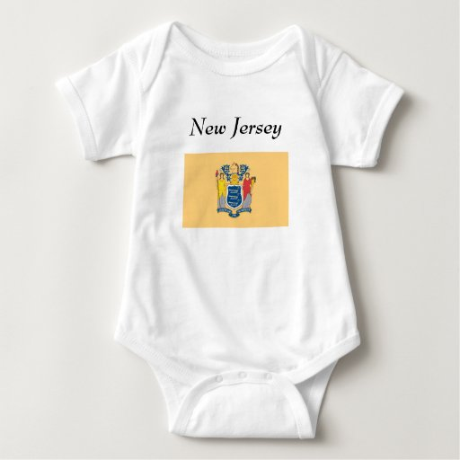 New Jersey Map and State Flag T-shirt