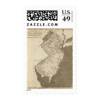 New Jersey Map by Arrowsmith Postage Stamps