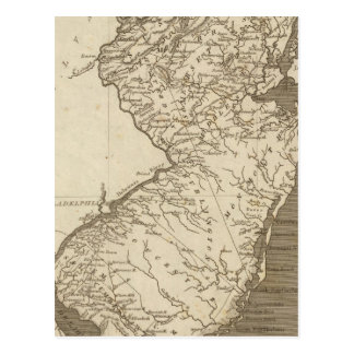 New Jersey Map by Arrowsmith Postcard