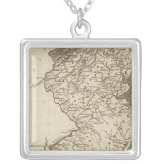 New Jersey Map by Arrowsmith Silver Plated Necklace