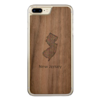 New Jersey map Carved iPhone 7 Plus Case