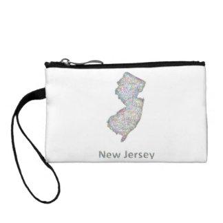 New Jersey map Change Purse
