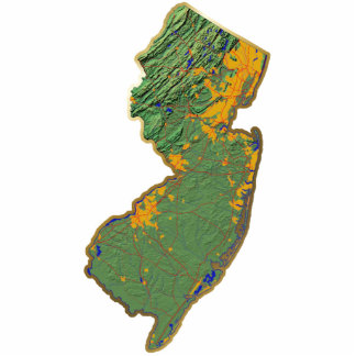 New Jersey Map Keychain Cut Out