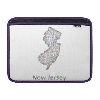New Jersey map MacBook Air Sleeve