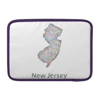 New Jersey map MacBook Sleeve