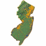 New Jersey Map Magnet Cut Out