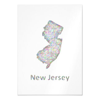 New Jersey map Magnetic Invitations