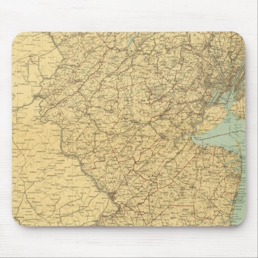 New Jersey Map Mouse Pad