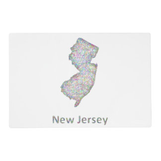New Jersey map Placemat