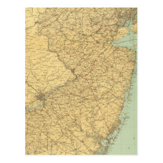 New Jersey Map Postcard