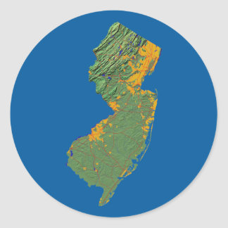 New Jersey Map Sticker