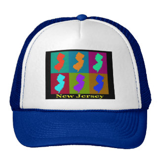 New Jersey Map Trucker Hat