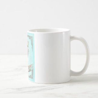 New Jersey Map With Lovely Birds Coffee Mug