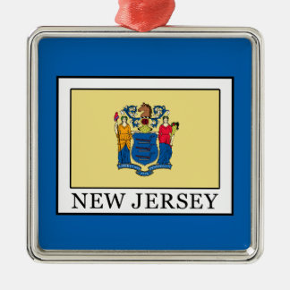 New Jersey Metal Ornament