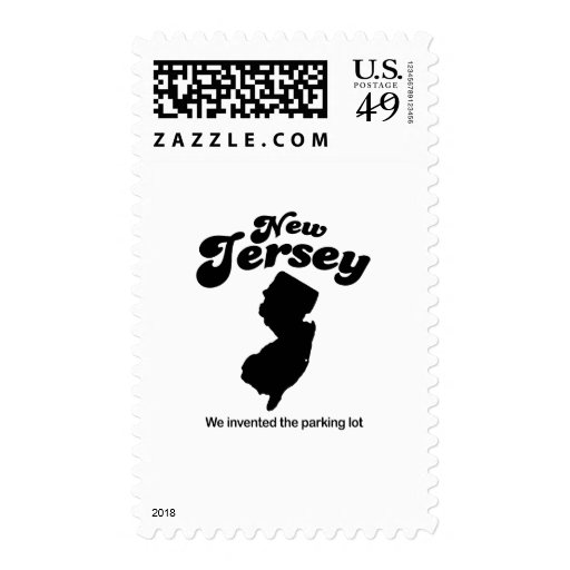 New Jersey Motto - We invented the parking lot Stamps