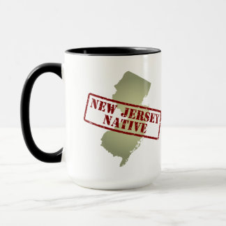 New Jersey Native Stamped on Map Mug