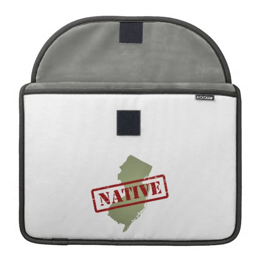 New Jersey Native with New Jersey Map MacBook Pro Sleeves