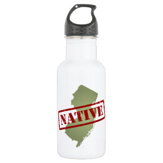 New Jersey Native with New Jersey Map 18oz Water Bottle