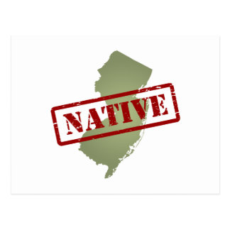 New Jersey Native with New Jersey Map Postcard