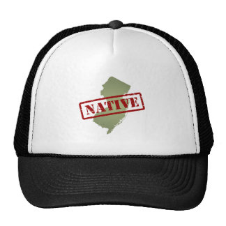 New Jersey Native with New Jersey Map Trucker Hat