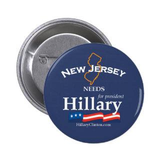 New Jersey necesita el botón de Hillary Pin