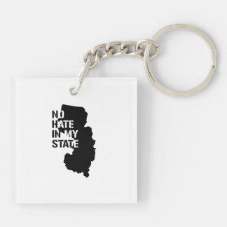 New Jersey: Ningún odio en mi estado Llavero Cuadrado Acrílico A Doble Cara