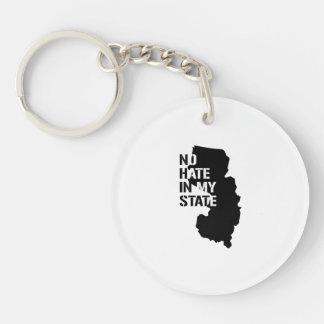 New Jersey: Ningún odio en mi estado Llavero Redondo Acrílico A Doble Cara