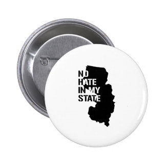 New Jersey: Ningún odio en mi estado Pin Redondo 5 Cm