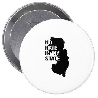 New Jersey: Ningún odio en mi estado Pin Redondo 10 Cm