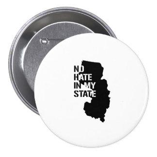 New Jersey: Ningún odio en mi estado Pin Redondo 7 Cm