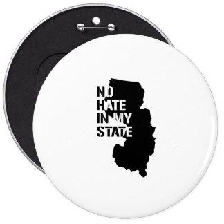 New Jersey: Ningún odio en mi estado Pin Redondo 15 Cm