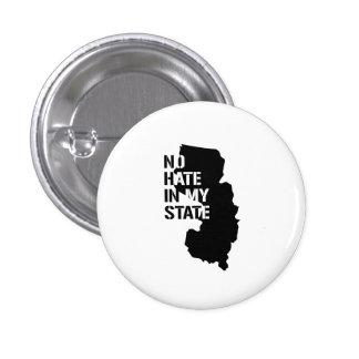 New Jersey: Ningún odio en mi estado Pin Redondo 2,5 Cm