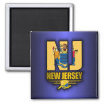 New Jersey (NJ) 2 Inch Square Magnet