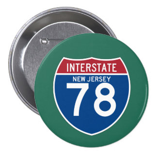 New Jersey NJ I-78 Interstate Highway Shield - Button