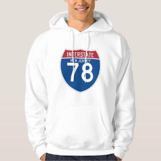 New Jersey NJ I-78 Interstate Highway Shield - Hooded Sweatshirt