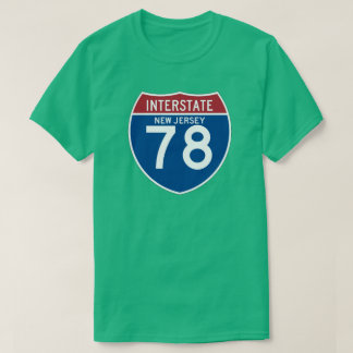 New Jersey NJ I-78 Interstate Highway Shield - T-shirt