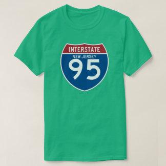 New Jersey NJ I-95 Interstate Highway Shield - T Shirt