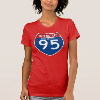 New Jersey NJ I-95 Interstate Highway Shield - Tee Shirt