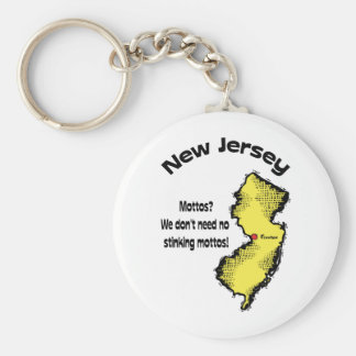 New Jersey NJ ~ Mottos, We don't need no stinking Basic Round Button Keychain