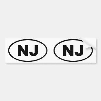 New Jersey NJ oval Bumper Sticker