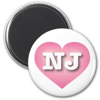New Jersey NJ pink fade heart Magnet