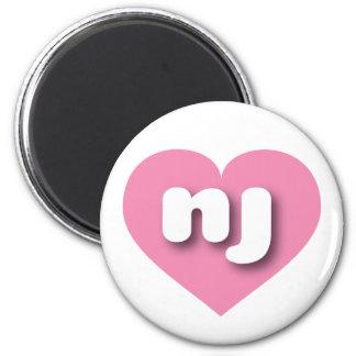 New Jersey nj pink heart Magnet