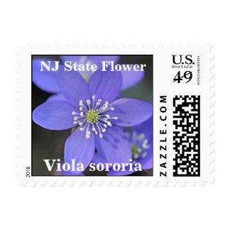 New Jersey NJ State Flower (Violet) Postage