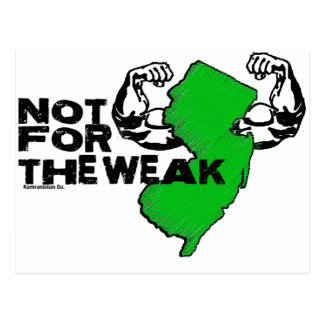 New Jersey: Not For The Weak Postcard