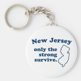 New Jersey Only The Strong Survive Basic Round Button Keychain