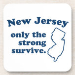 New Jersey Only The Strong Survive Drink Coaster